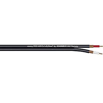 Instrument lead 1 x 2 x 0.25 mm² Black Sommer Cable