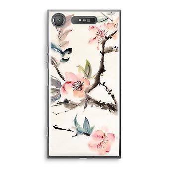 Sony Xperia XZ1 Transparant Case (Soft) - Japenese flowers