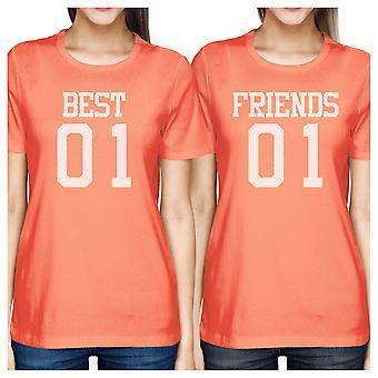 Best01 Friends01 BFF Matching Shirts Womens Best01 friends01 Gifts
