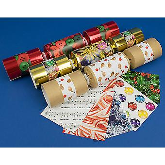 8 Assorted Christmas Design Make & Fill Your Own Cracker Craft Kit