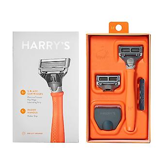 Harry's Razor Handle + 2 Cartridges Orange