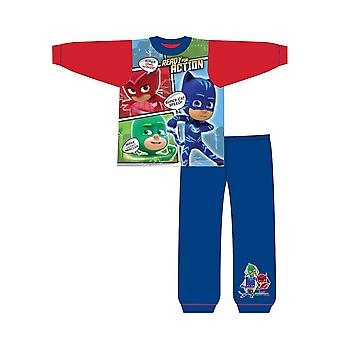 PJ Masks Childrens/Toddlers Boys Ready For Action Snuggle Fit Long Pyjamas