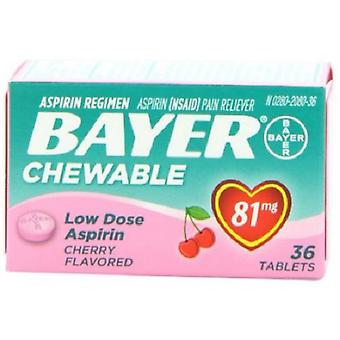 Bayer kirsebær Flavored tyggetabletter lav dosis Aspirin smertestillende