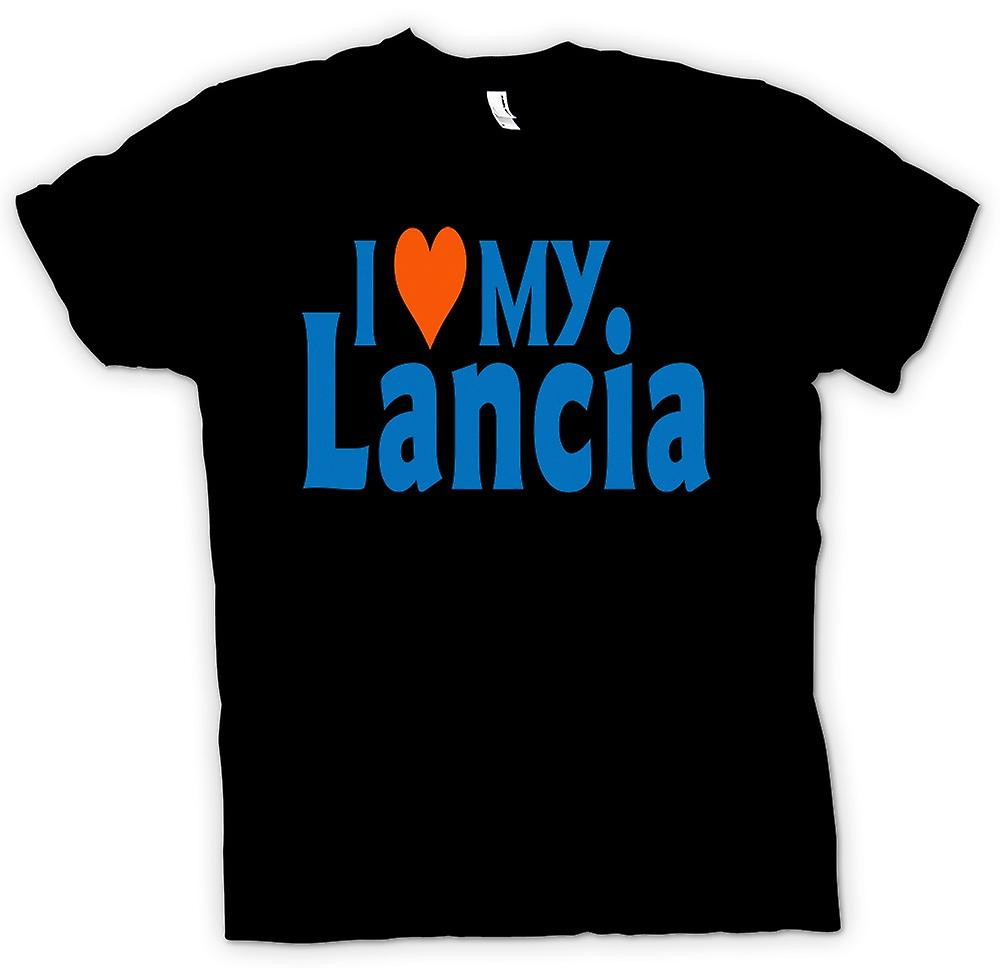 Mens T-shirt - I Love My Lancia - Car Enthusiast