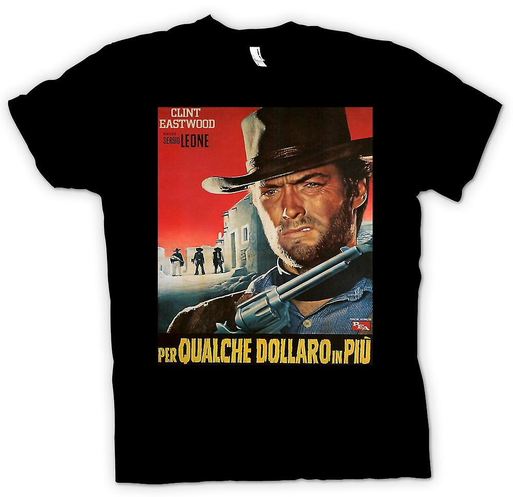 Mens T-shirt - For A Few Dollars More - Clint Eastwood