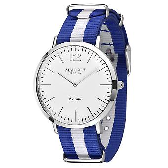 MADISON NEW YORK ladies watch wristwatch Avenue textile L4741F1