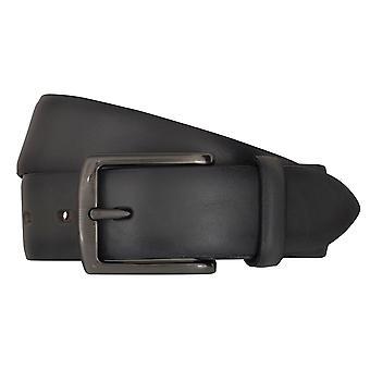 Cinturones de cinturón cinturones de hombres LLOYD de cuero correa gris 6838