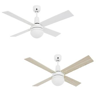 Ceiling fan Airfusion Quest II White / Oak with Light