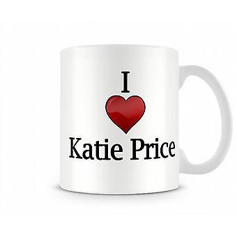 Ich liebe Katie Price bedruckte Becher
