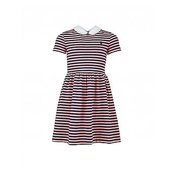 Polo Ralph Lauren Childrenswear Striped Peter Pan Collar Dress