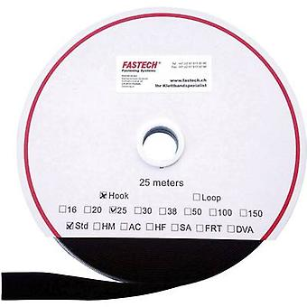 Hook-and-loop tape sew-on Loop pad (L x W) 25000 mm x 20 mm Black Fastech T0102099990125 25 m