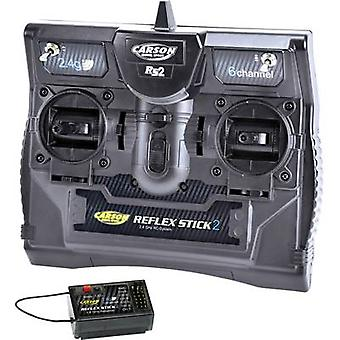 Carson Modellsport Reflex Stick II Handheld RC 2,4 GHz No. of channels: 6 Incl. receiver