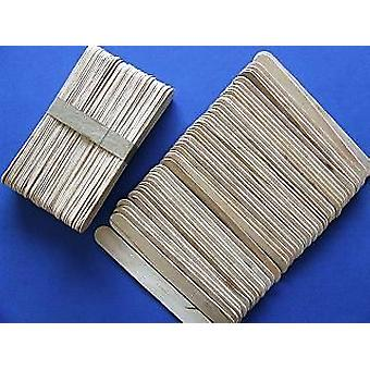 50 Wooden Large Craft Lolly Sticks - Natural | Wooden Shapes for Crafts