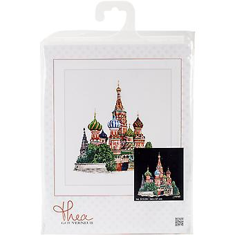 St. Basils Cathedral Moscow On Aida Counted Cross Stitch Kit-13.25