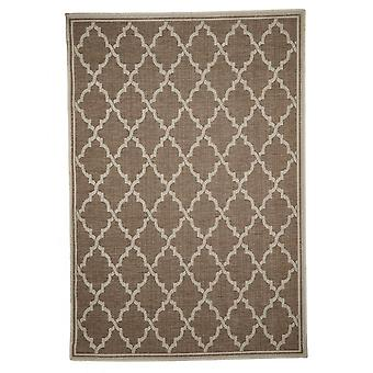 Outdoor carpet for Terrace / balcony carpet indoor / outdoor - for indoor and outdoor living room brown beige 135 x 190 cm