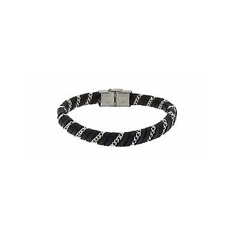 MANUEL ZED Black Leather Bracelet