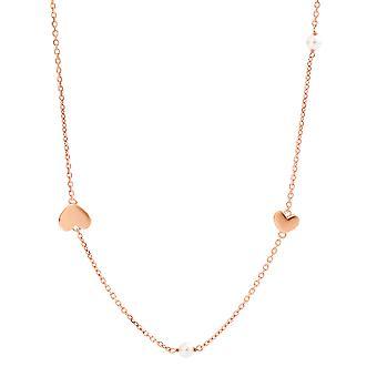 Collar de plata 925 Orphelia Rose Gold perla 80 cm