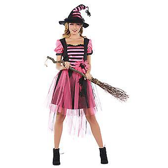 Heks Winifred dames kostuum carnaval goochelaar jurk