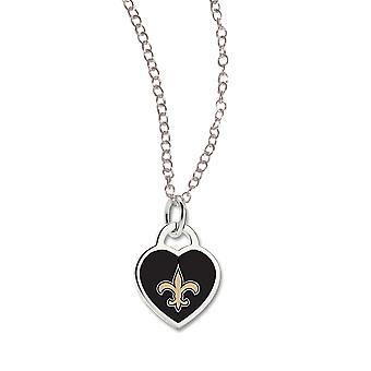 Wincraft Damen Herz Halskette - NFL New Orleans Saints