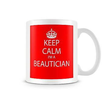 Keep Calm je suis un Mug imprimé Beautition