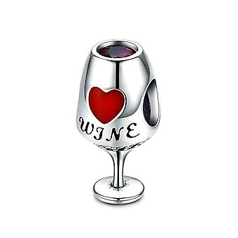 Sterling silver charm Wineglass