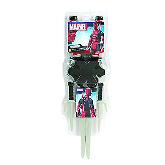 Deadpool arma Kit accesorio super héroe armas set Halloween Carnaval