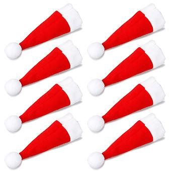 TRIXES Set of 8 Quirky Santa Hat Christmas Dinner Cutlery Holders