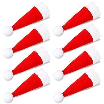 TRIXES conjunto de 8 peculiar sombrero de Santa Navidad cena cubiertos tenedores