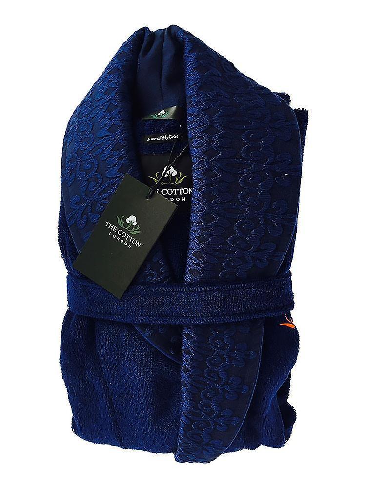 The cotton<sup>®</sup>luxury bathrobe - navy