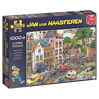 Jumbo Puzzle Jan Van Haasteren sexta-feira 13 1000 peças