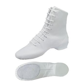 weiße Garde-Stiefel / Mariechen-Stiefel mit geteilter Sohle / Ballenpartie Leder Modell: 4680-H