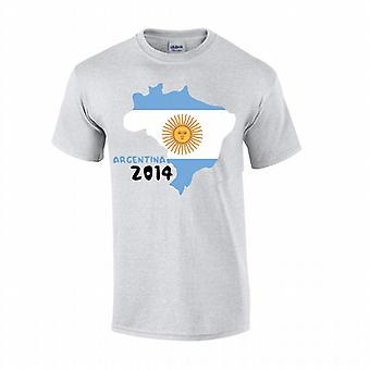 Argentinien 2014 Country Flag T-shirt (grau)