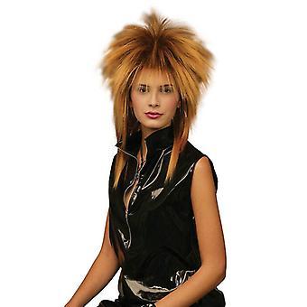 Tina Two Tone Wig. Gold/Black.