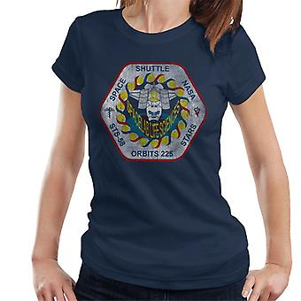NASA STS 58 Columbia Mission Badge Distressed Women's T-Shirt