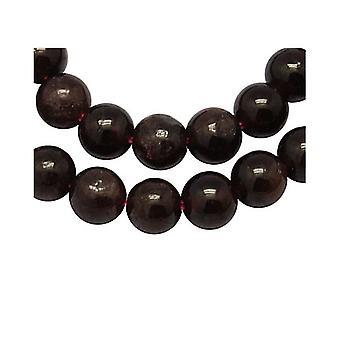 Strand 50+ Dark Red Garnet 8mm Plain Round Beads Y08585