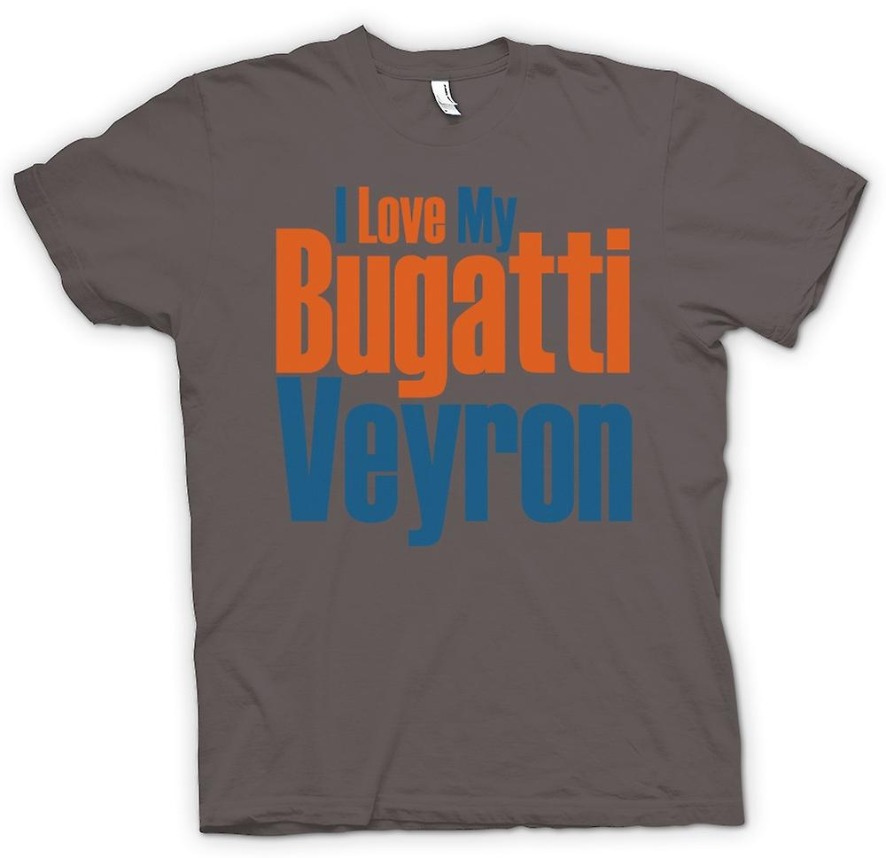 Mens T-shirt - I Love My Bugatti Veyron - Car Enthusiast