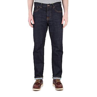 Nudie Jeans Sleepy Sixten Rinsed Denim Relaxed Fit Jeans