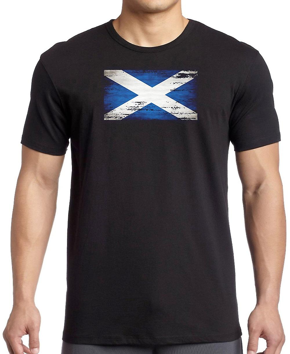 Scotland Scottish Saltire Grunge Flag T Shirt