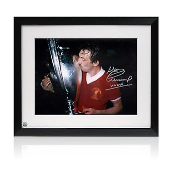 Framed Alan Kennedy Signed Liverpool FC Photo: European Cup Winner