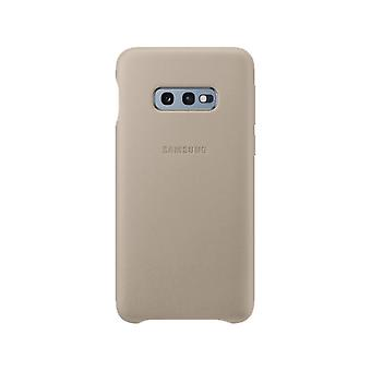 Samsung leather cover grey for Samsung Galaxy S10e G970F EF VG970L bag case protective cover