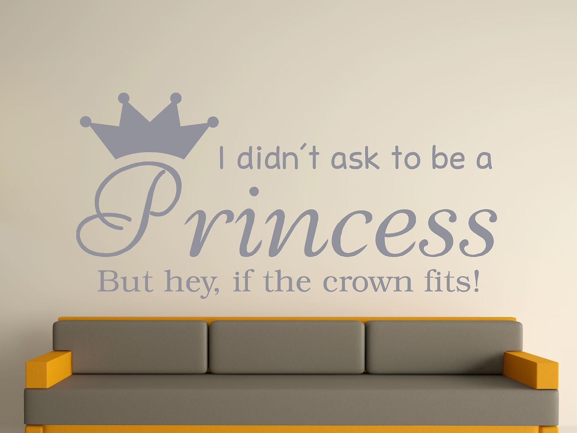 Wird A Princess v2 Wall Art Sticker - Silber