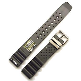 Morellato black leather strap unisex BOMBER black 18 mm A01U0359198019CR20