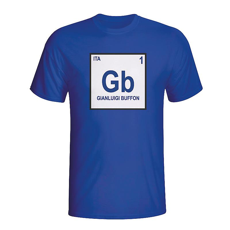 Gianlugi Buffon Italy Periodic Table T-shirt (blue)