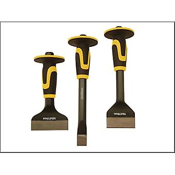 Roughneck Chisel & Bolster 3 Piece Set 76 x 254 mm, 70 x 216mm, & 254 x 25mm