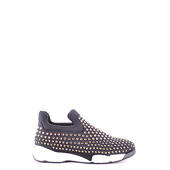 Pinko Black Nylon Slip On Sneakers