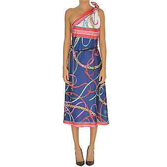 Pinko Multicolor Silk Dress