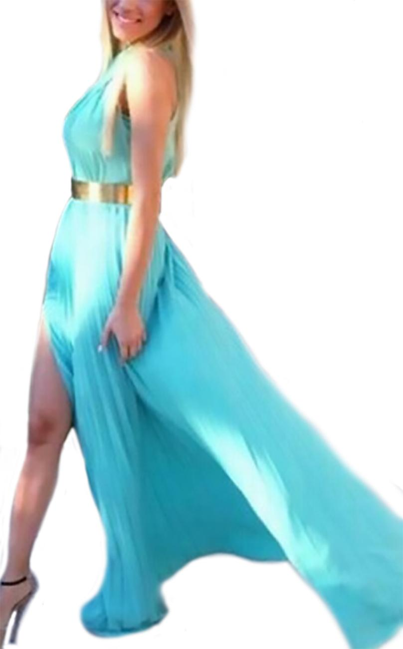Long dress without sleeves and cross Ritalina