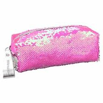 Depesche Topmodel 10416 Pencil Case With String Sequins Pink / Silver