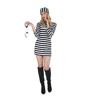 Sträfling Knasti Gefangene Damen Kostüm