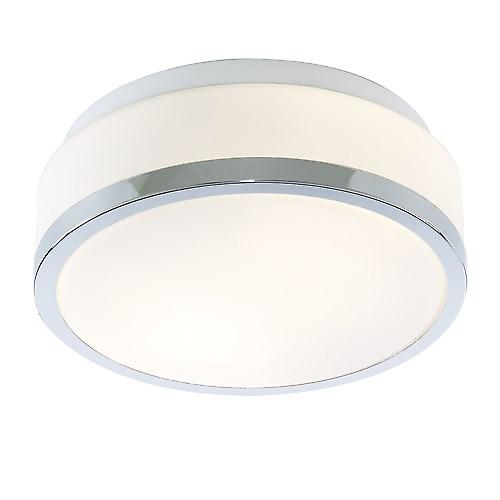 Searchlight 7039-23CC Bathroom Ceiling Light With Opal Glass And Chrome Trim IP44
